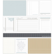 "Essence East Coast Cards 3""X4"" & 6""X4"" 54/Pkg - Foundation Grids & Ledgers"