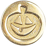 "Pumpkin - Decorative Seal Coin .75"""