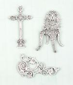 Cast Iron Metal Embellishments - Shabby Chic Treasures - Prima
