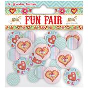 Helz Fun Fair Wooden Buttons-