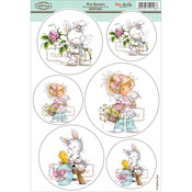 "Bunnies - Wee Stamps Topper Sheet 8.3""X12.2"""