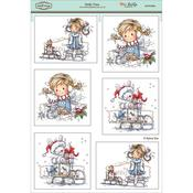 "Holly Time - Wee Stamps Topper Sheet 8.3""X12.2"""