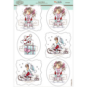 "Let It Snow - Wee Stamps Topper Sheet 8.3""X12.2"""