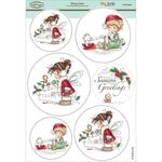 """Winter Fairy - Wee Stamps Topper Sheet 8.3""""X12.2"""""""