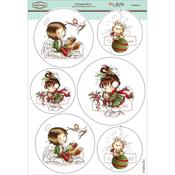 "Christmas Berry - Wee Stamps Topper Sheet 8.3""X12.2"""