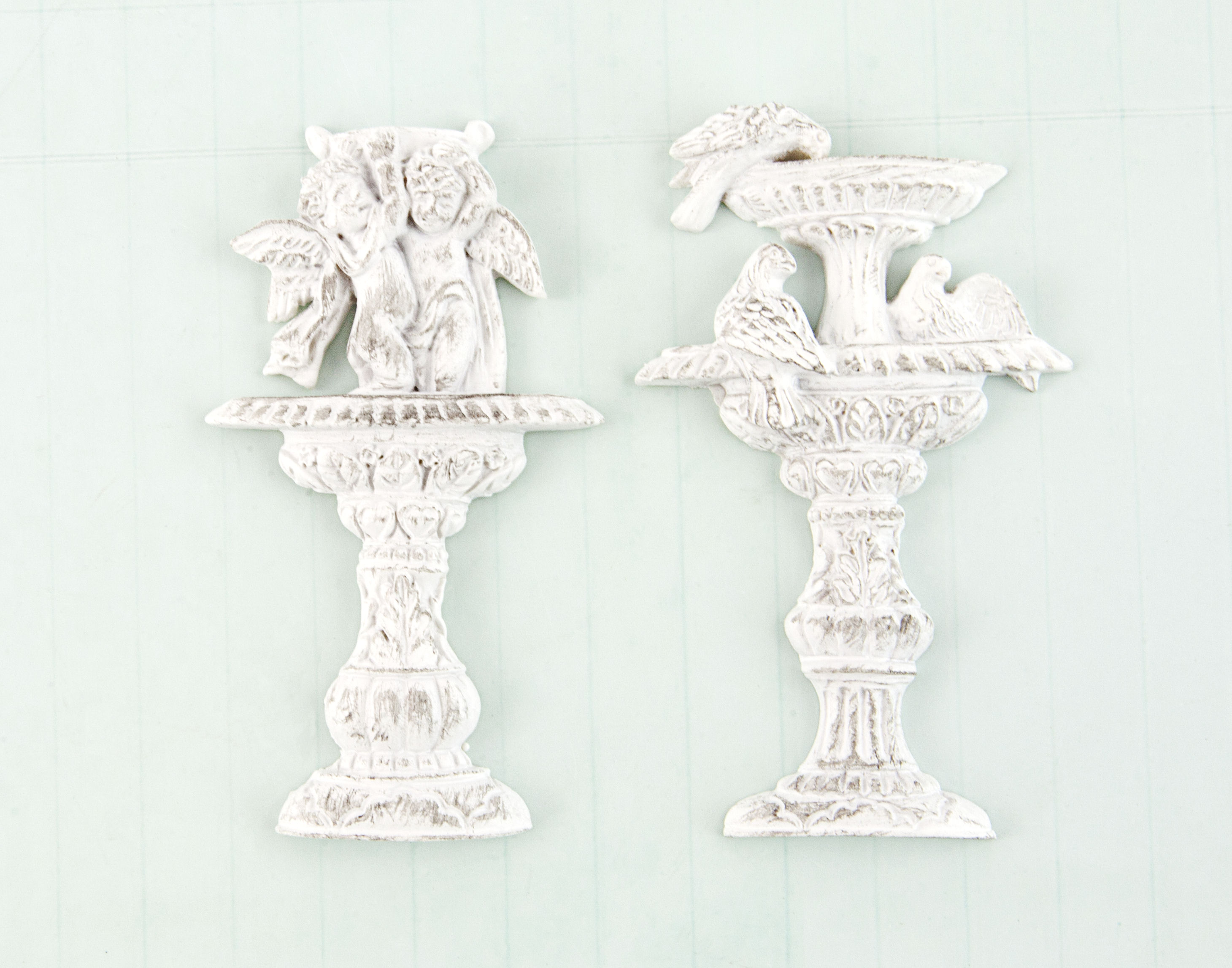 Garden Fountain Resin - Shabby Chic Treasures - Prima