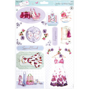 Papermania Lucy Cromwell Die - Cut Toppers A4 Sheet - Dresses With Glitter Accen