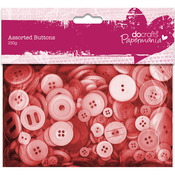 Red - Papermania Buttons Assorted 250g