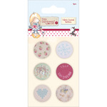 Tilly Daydream Fabric Covered Buttons 25mm 6/Pkg-