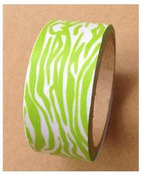 Lime & White Zebra Washi Tape - Love My Tapes
