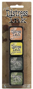 Kit 10 Mini Distress Ink Pads - Tim Holtz