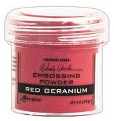 Red Geranium Embossing Powder - Wendy Vecchi