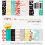 Stitched 6 x 6 Paper Pad - Amy Tangerine