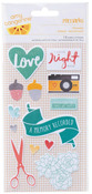 Stitched Fabric Stickers - Amy Tangerine