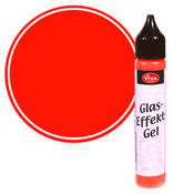Red Opaque Glass Effect Gel Pen - Viva Decor