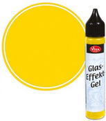 Yellow Opaque Glass Effect Gel Pen - Viva Decor