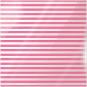 Neon Pink Stripe Acetate Paper - Clearly Bold - We R Memory Keepers