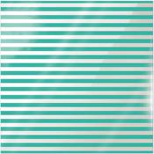 Neon Teal Stripe Acetate Paper - Clearly Bold - We R Memory Keepers