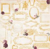 Frames Paper - Rose Cafe - Bo Bunny