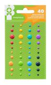 Family Fun Adhesive Enamel Dots - Imaginisce