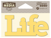 Life Mix The Media Word 4 Inch Stencil - Jillibean Soup