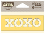 XOXO Mix The Media Word 4 Inch Stencil - Jillibean Soup