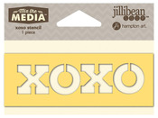 XOXO Mix The Media Word 4 Inch Stencil - Jillibean Soup