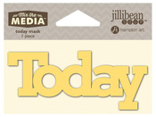 Today Mix The Media Word 4 Inch Stencil - Jillibean Soup