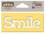 Smile Mix The Media Word 4 Inch Stencil - Jillibean Soup