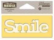 Smile Mix The Media Word 4 Inch Stencil - Jillibean Soup