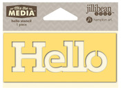 Hello Mix The Media Word 4 Inch Stencil - Jillibean Soup