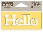 Hello Mix The Media Word 4 Inch Stencil - Jillibean Soup