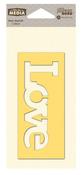 Love Mix The Media Word 4 Inch Stencil - Jillibean Soup