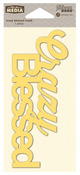 Crazy Blessed Mix The Media Word 6 Inch Stencil - Jillibean Soup
