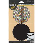 Chalkboard & Printed Scallop Circles - K & Company