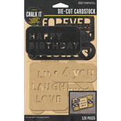 Black Words & Letters Die - cut Cardstock - K & Company