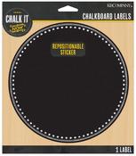 Large Circle Chalkboard Label Sticker - Chalk It Now - K & Company