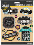 Chalk It Now Dimensional Stickers - K & Company