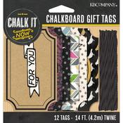 Chalk It Now Chalkboard Gift Tags - K & Company