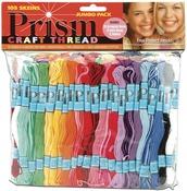 Assorted Colors - Prism Craft Thread Jumbo Pack 9.14 Meters 105/Pkg