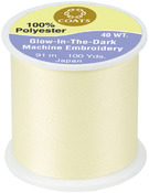 Yellow - Glow-In-The-Dark Machine Embroidery Thread 100yd