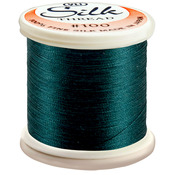 Dark Blue Green - Silk Thread 100wt 200m
