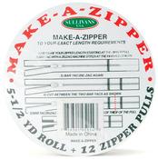 Make - A - Zipper Kit 5-1/2yd - White