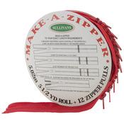 Make - A - Zipper Kit 5-1/2yd - Red