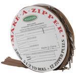 Make - A - Zipper Kit 5-1/2yd - Brown