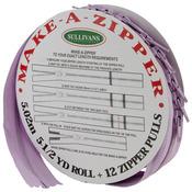 Make - A - Zipper Kit 5-1/2yd - Purple