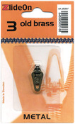 Old Brass - ZlideOn Zipper Pull Replacements Metal 3