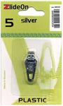 Silver - ZlideOn Zipper Pull Replacements Plastic 5