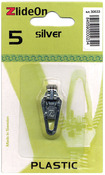 Silver - ZlideOn Zipper Pull Replacements Plastic 5