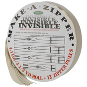 Make - A - Zipper Kit Invisible 4-1/2yd - Beige